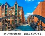 famous old speicherstadt in...   Shutterstock . vector #1061529761