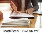 close up business man reaching... | Shutterstock . vector #1061532599