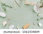 frame of stylish female stuff... | Shutterstock . vector #1061534849