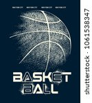 basketball graphic design for t ... | Shutterstock .eps vector #1061538347