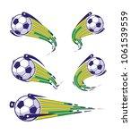football symbols set. fast... | Shutterstock .eps vector #1061539559