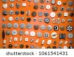 buttons of various shapes made... | Shutterstock . vector #1061541431