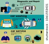 auto maintenance services icons ... | Shutterstock .eps vector #1061553431