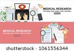 medical flat vector background... | Shutterstock .eps vector #1061556344