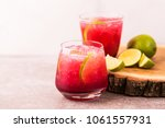 alcoholic cocktail sour cherry... | Shutterstock . vector #1061557931