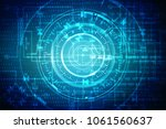 2d illustration technology... | Shutterstock . vector #1061560637