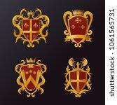 set of isolated heraldic... | Shutterstock .eps vector #1061565731