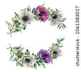watercolor floral composition...   Shutterstock . vector #1061583017