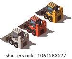 isometric skid mini loader... | Shutterstock .eps vector #1061583527