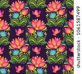 vector seamless floral pattern... | Shutterstock .eps vector #1061587499
