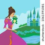 beautiful young princess... | Shutterstock . vector #1061591081