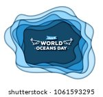 paper art concept of world... | Shutterstock .eps vector #1061593295