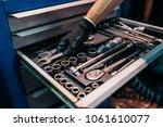 tool suitcase.mechanic concept. | Shutterstock . vector #1061610077