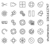 thin line icon set   24 hours...   Shutterstock .eps vector #1061612747