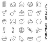 thin line icon set   cheese... | Shutterstock .eps vector #1061617247