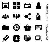 solid vector icon set   baggage ... | Shutterstock .eps vector #1061623007