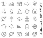 thin line icon set   chart... | Shutterstock .eps vector #1061623511
