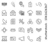 thin line icon set   globe... | Shutterstock .eps vector #1061626367
