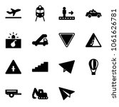 solid vector icon set  ... | Shutterstock .eps vector #1061626781