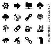 solid vector icon set   gear...   Shutterstock .eps vector #1061627627