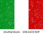 italy flag. official colors and ... | Shutterstock .eps vector #1061631569
