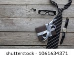 mockup for greeting card on... | Shutterstock . vector #1061634371