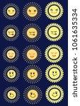 set of sun emoticon...   Shutterstock . vector #1061635334