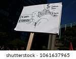 activists protest against... | Shutterstock . vector #1061637965