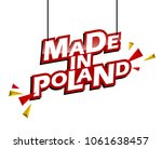 red and yellow tag made in...   Shutterstock .eps vector #1061638457
