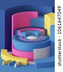 3d render  abstract geometric... | Shutterstock . vector #1061647049