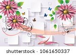 3d abstraction flower... | Shutterstock . vector #1061650337
