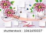 3d abstraction flower...   Shutterstock . vector #1061650337