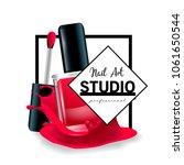 nail art studio logo design... | Shutterstock .eps vector #1061650544