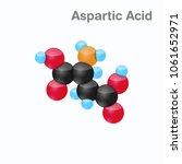 molecule of aspartic acid  asp  ... | Shutterstock .eps vector #1061652971