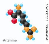 molecule of arginine  arg  an... | Shutterstock .eps vector #1061652977