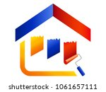 painter symbol   house with... | Shutterstock .eps vector #1061657111