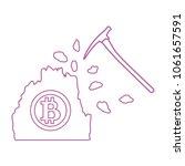mining of bitcoins. digital... | Shutterstock .eps vector #1061657591