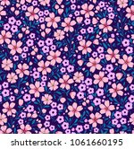 elegant floral pattern in small ... | Shutterstock .eps vector #1061660195