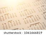 image of 2018 calendar...   Shutterstock . vector #1061666819