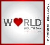 7 april world health day... | Shutterstock .eps vector #1061666999