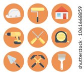 construction tool icons set...   Shutterstock .eps vector #1061668859