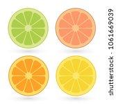 vector set of lemon  orange ...   Shutterstock .eps vector #1061669039
