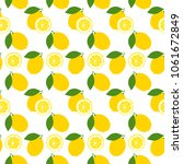seamless pattern with lemons.... | Shutterstock .eps vector #1061672849
