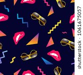 seamless summer pattern with... | Shutterstock .eps vector #1061675057