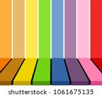 empty colorful tabletop display ...   Shutterstock .eps vector #1061675135