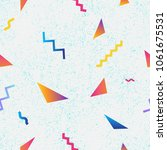 seamless pattern with geometric ... | Shutterstock .eps vector #1061675531