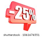 minus 25 percent off sign on...   Shutterstock . vector #1061676551