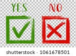 yes and no acceptance and... | Shutterstock .eps vector #1061678501