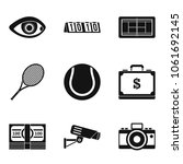 video image icons set. simple... | Shutterstock .eps vector #1061692145