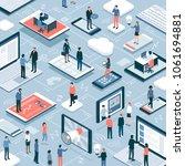 business people  freelancers ... | Shutterstock .eps vector #1061694881